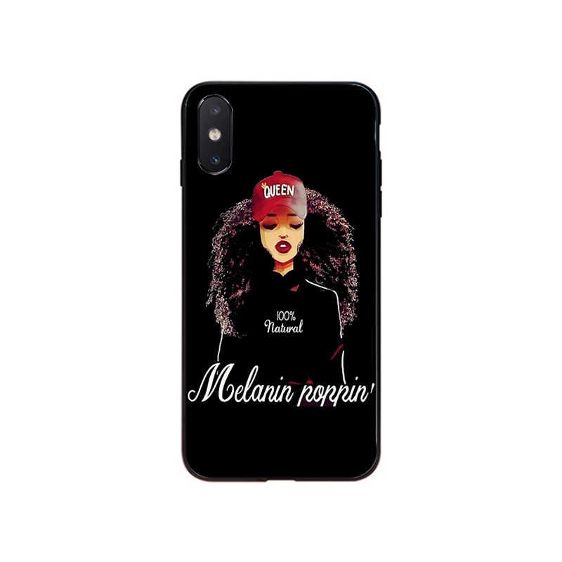 MaiYaCa Afro chica negra mágica reina melanina Poppin accesorios para teléfono funda para iPhone 11 Pro XS MAX XS XR 8 7 6 Plus 5 5S SE