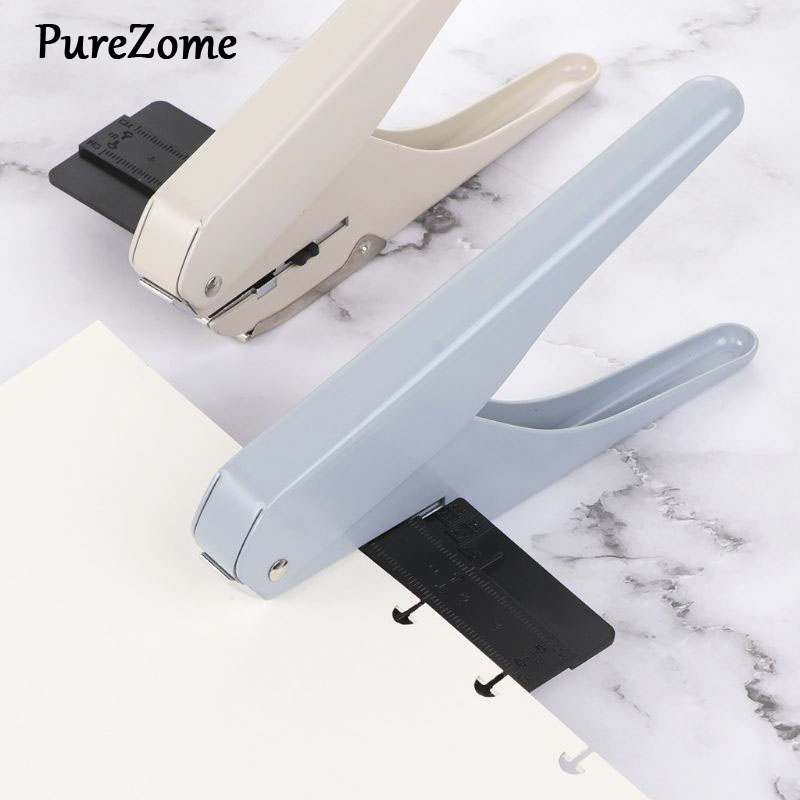 Mushroom Hole T-type Office Punches Paper Cutter Loose Sheet DIY School Supplies Scrapbooking Puncher Binding Holes 1