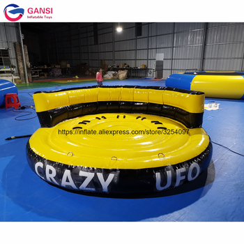 inflatable flying fish water sports equipment for 6 players flying fish towable inflatable flying banana boat tube Customized size inflatable disco flying towable boat popular inflatable water crazy UFO for sale
