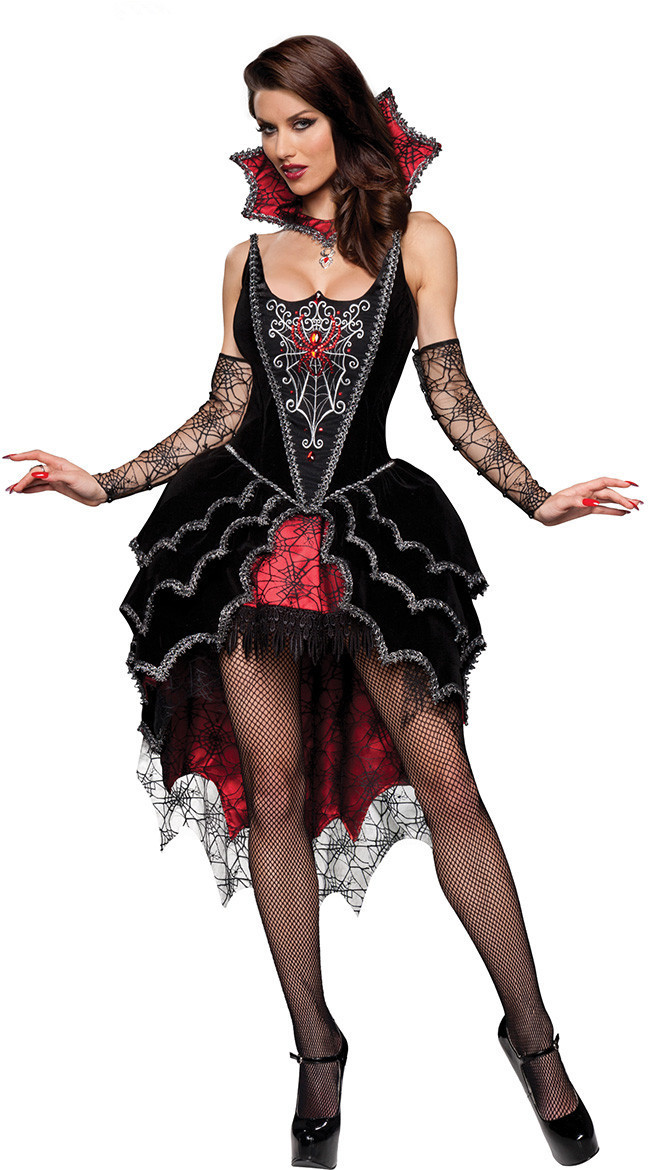 <font><b>Halloween</b></font> Clothing Europe And America <font><b>Halloween</b></font> New Style <font><b>Sexy</b></font> Gothic Vampire <font><b>Queen</b></font> Performance Wear image