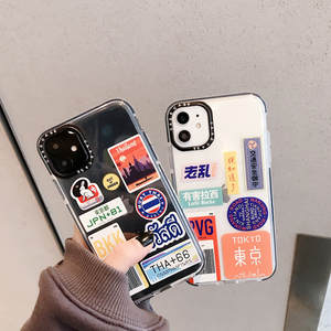 Japan personality label Couple Phone Cover Case For Iphone X 11 pro Xs Max Xr 10 8 7
