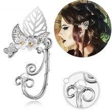 Boucles d'oreilles percées pour femmes, boucles d'oreilles en forme de elfe, 1 pièce, Clip, boucles d'oreilles, Punk gothique, unisexe, enroulé, à la mode, bijoux