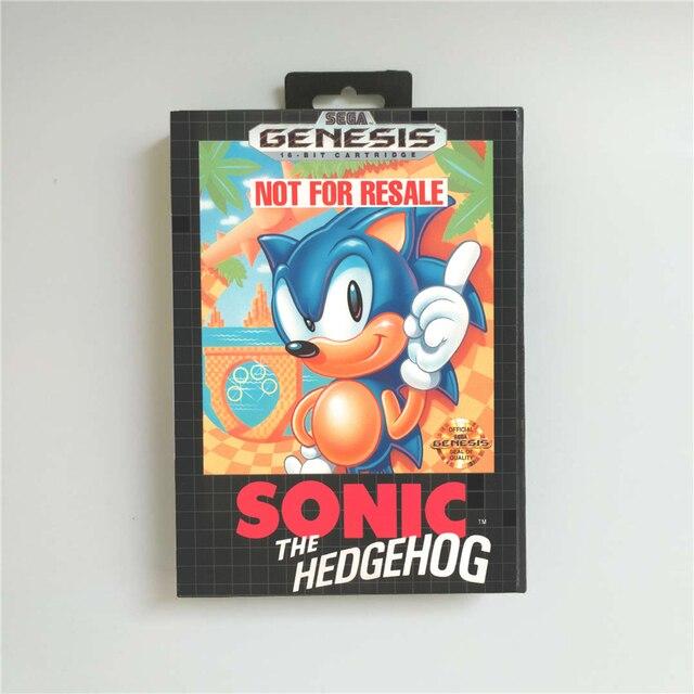 Игровая приставка Sonic the Hedgehog США, 16 бит, в розничной упаковке