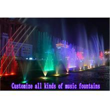Zaprojektuj i dostosuj wszystkie rodzaje fontann muzycznych fontanna do skakania fontanna wymienna fontanna wodospad z zasłoną wodną tanie tanio HOYB02 Metal