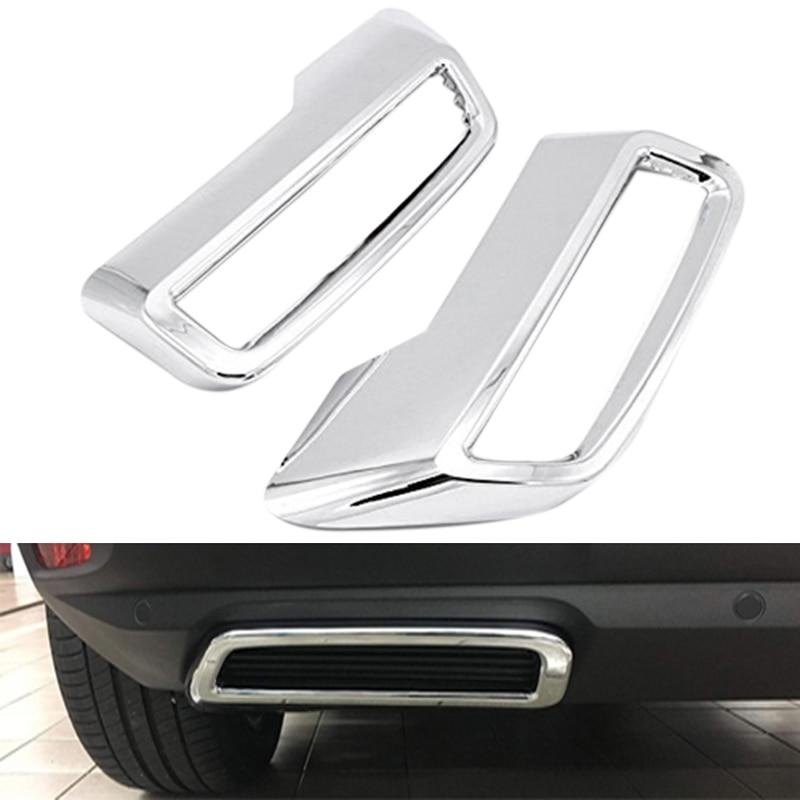 Для Peugeot 3008 5008 Allure 2017   2019 задняя крышка выхлопной трубы ABS задняя крышка выхлопного глушителя декоративная накладка|Лепнина для интерьера|   | АлиЭкспресс