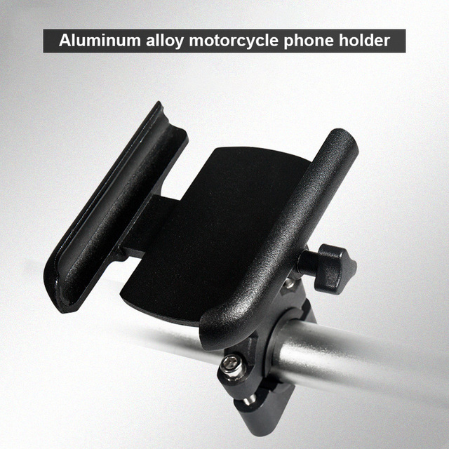 Vmonv Upgrade Universal Metal Chargable Motorcycle Rearview Mirror Cell Phone Holder Stand Support Handle Bike Moto Mount Holder 4