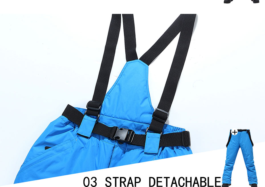 Women Ski Pants Brands New Outdoor Sports High Quality Suspenders Trousers Men Windproof Waterproof Warm Winter Snow Snowboard 26