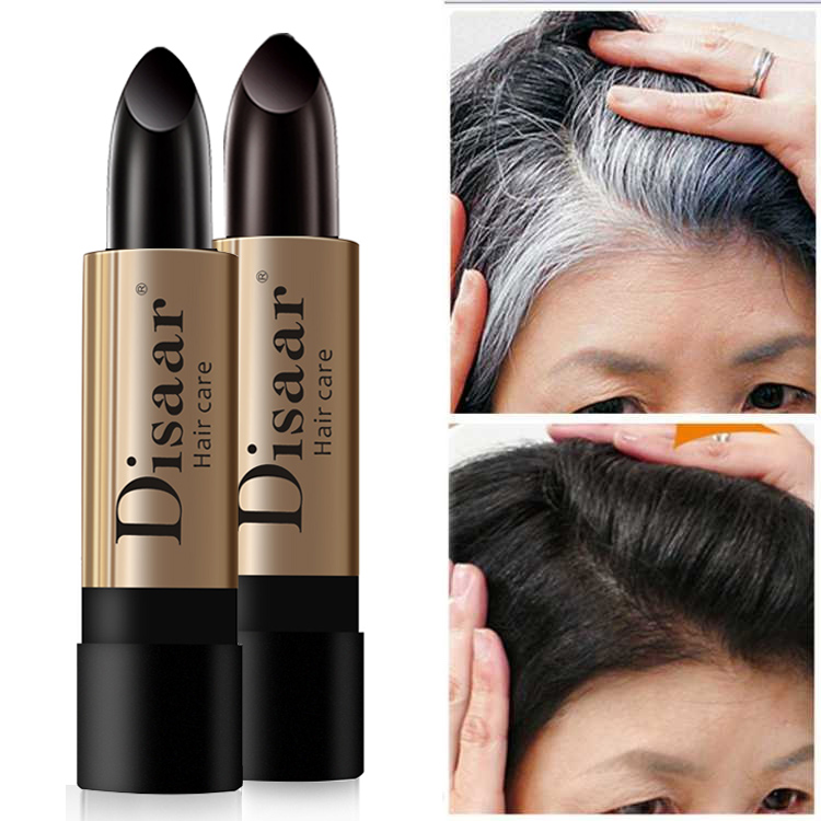 10g  One-Time Hair dye Instant Gray Root Coverage Hair Color Modify Cream Stick Temporary Cover Up White Hair Colour Dye 10g