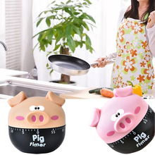 60 Minutes Kitchen Timer Cartoon Pig Shaped Home Kitchen Alarm Clock Countdown Piglet Machinery Electronic Timer Cooking Tools цена и фото