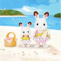 Semipkg Children Sylvanian Families Toy Double Swimwear Case GIRL'S Play House Doll Toy 5233
