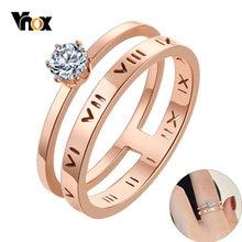 Vnox полые римские цифры Свадебный ремешок для женщин с bling