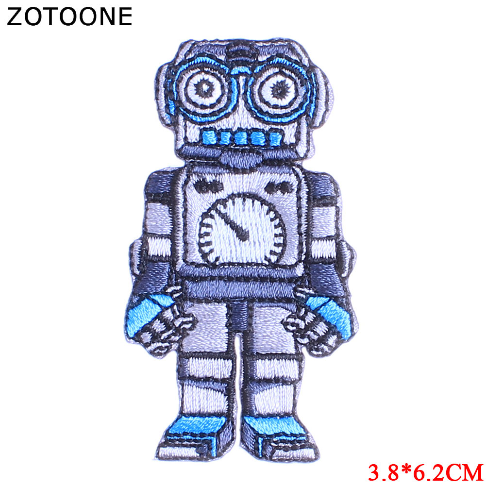 ZOTOONE Motorcycle Patch Alien Dinosaur Stickers Iron on Patches for Clothing T shirt Heat Transfer Diy Accessory Appliques G in Patches from Home Garden