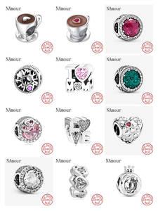 Charms Silver Bead 925-Bracelet Mom Coffee-Cup Fashion Jewelry Pink Women Love Original Pandora