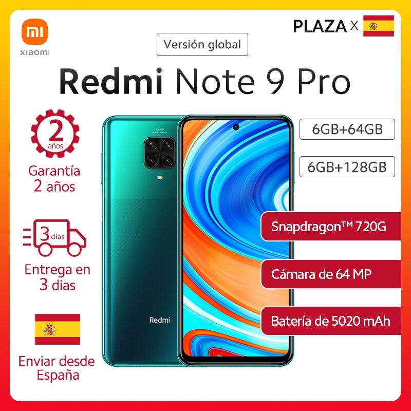 Xiaomi Smartphone Redmi Note 9 Pro versión global, teléfono móvil de 64GB y 128GB, Snapdragon 720G, cámaras cuádruples IA de 64MP, 5020mAh, 30W, carga rápida, NFC|Teléfonos móviles| - AliExpress