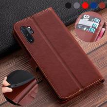 Flip Leather Case on For Samsung Galaxy Note 10 Case back cover phone Case on For Samsung Galaxy Note 10 Plus Pro book coque(China)