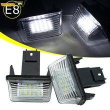 2pc LED luz de placa de matrícula para Citroen C3 C4 C5 Berlingo Saxo Xsara Picasso para Peugeot 206, 207, 306, 307, 308, 5008