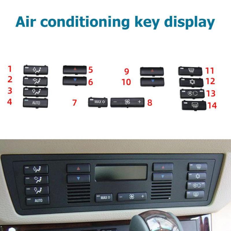 VODOOL 14 шт./компл. Кнопка кондиционера для автомобильного кондиционера A/C, крышки для кнопок BMW X5 E53 99-06 5 Series E39 96-02