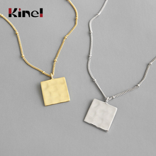 Kinel Sterling Silver Necklaces 925 For Women Square Necklaces Pendant 925 Silver Fine Jewelry Silver Necklace special brand fashion clever maxi necklace 925 sterling silver necklaces