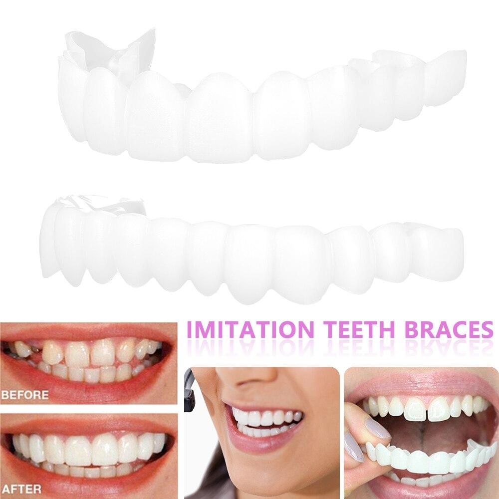 Dentures False Teeth Cover Upper Lower Perfect Smile Comfort Fit Flex Denture Braces Teeth Whitening