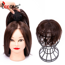 Hair-Pieces Clip-In Straightened Synthetic-Hair-Accessories New Leeons for The-Top-Of-The-Head