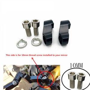 Dla Honda CB400 VTEC CB1300 CB1100 CB500F CB600F części motoryzacyjne 10MM motocyklowe lusterka wsteczne przedłużacz przedłużenie adaptera