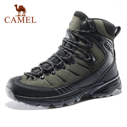CAMEL Outdoor Trekking Shoes Men Waterproof Non-slip Hiking Shoes Winter Warm Men Army Tactical Combat Military Boots New