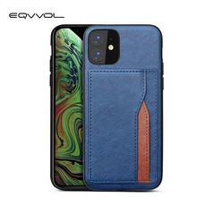 Eqvvol Retro Pu Leather Case Voor Iphone 11 Pro Max 2019 Multi Card Wallet Case Voor Iphone X Xs Max xr 11 Shockproof Cover Coque(China)