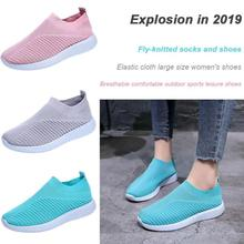 2019 Spring Cutout Sneakers Breathable Mesh Soft Women Outdoor Sports Running Casual Shoes Ladies New