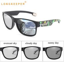 LongKeeper Photochromic Sunglasses Men Polarized Chameleon Sun Glasses Fashion Driver Goggles UV400 Lentes Sol Hombre