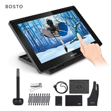 BOSTO BT 16HDT Tragbare 15,6 Zoll H IPS LCD Grafiken Zeichnung Digitale Tabletten Kunst Grafiken Tablet Monitor 8192 Leverls Druck
