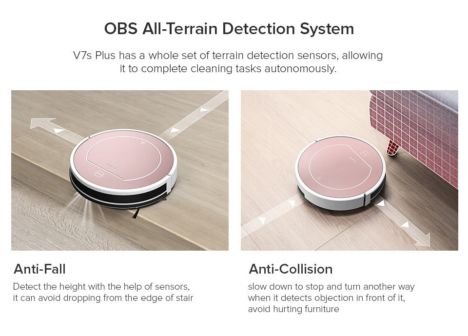 H05fce4e2861f450bbbc69f0098a866d2H ILIFE V7s Plus Robot Vacuum Cleaner Sweep and Wet Mopping Disinfection For Hard Floors&Carpet Run 120mins Automatically Charge