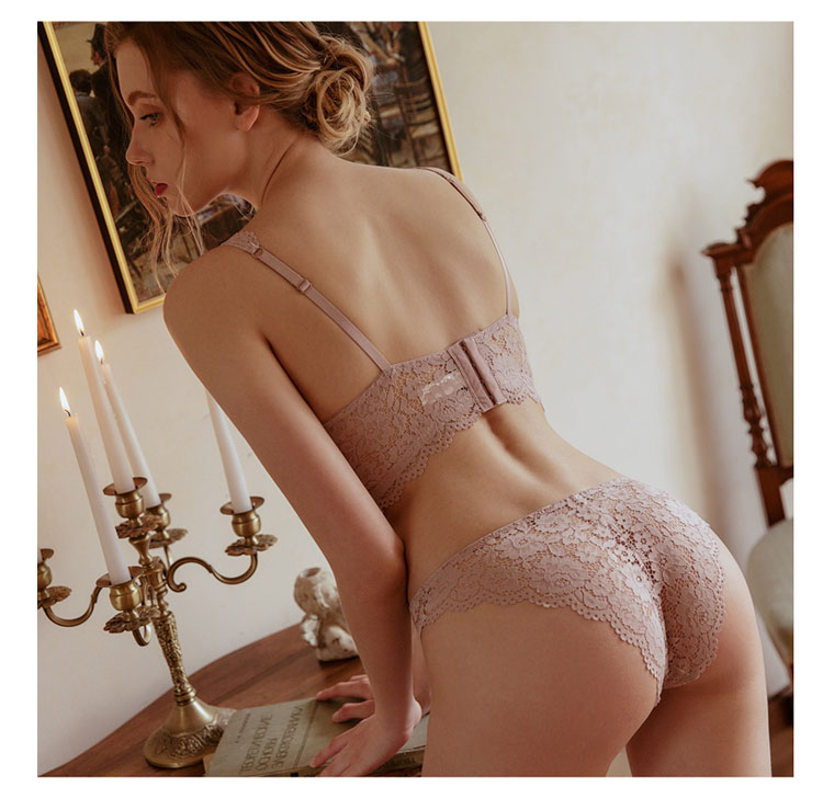 CINOON New Top High Quality Bra Set Gather Bras Deep V Brassiere Women Lingerie Set Lace Embroidery Push up Bra Panties Sets (5)