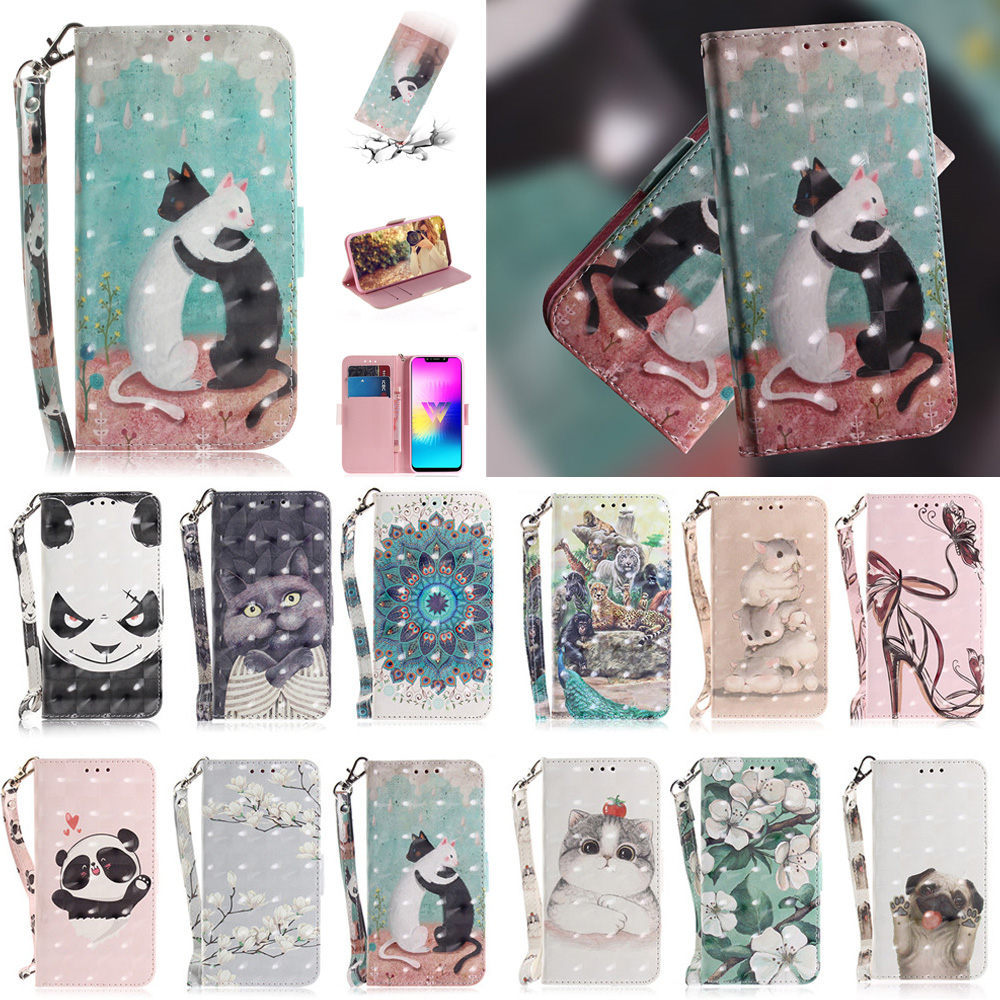 PU Leather Case For Xiaomi Redmi 8A 7A 6A 6 7 <font><b>8</b></font> Pro Wallet Painted Flip Cases for redmi k20 pro S2 S3 Y2 Y3 5 plus Phone cover image