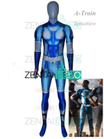 3D Printed High Quality Lycra A Train The Boys Cosplay Costume Custom Made Superhero Zentai Suit Halloween Adult Kids Bodysuit