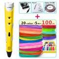 3d-ручки myriwell + нить из АБС-пластика 20*5 м  3d-ручка 3 d  креативная 3d-ручка  Детские 3d-ручки для рисования  pen-3d 1 75 мм ABS/PLA
