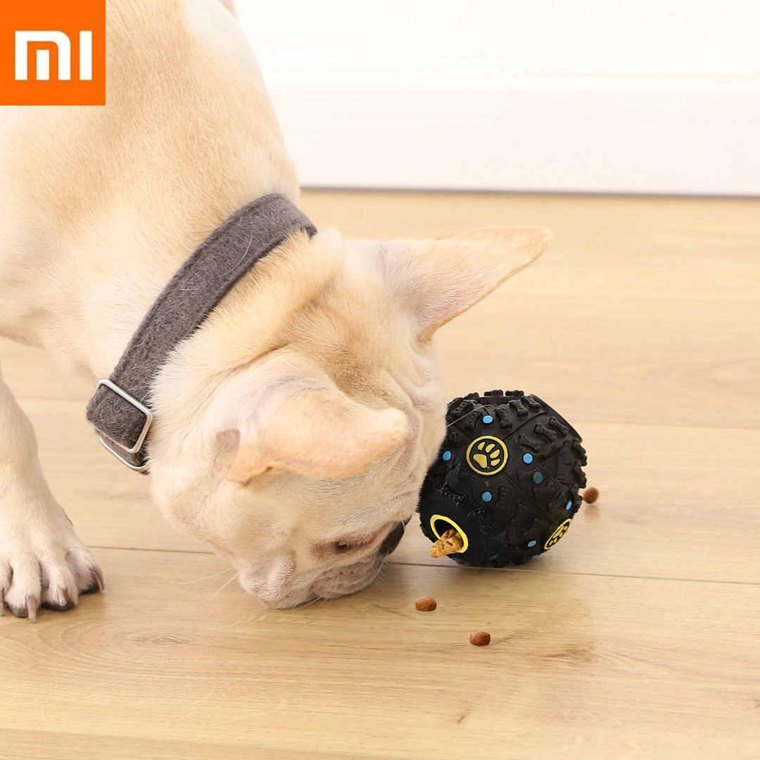 Xiaomi כלב דולף מזון Dispenser כדור חורק צעצוע לחיות מחמד צעצועים אינטראקטיביים טוחנות טדי גולדן רטריבר Xiomi בית ביס עמיד