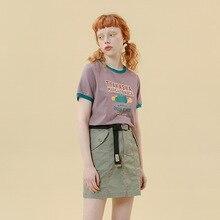 Корейская мода, дизайн, женские летние трапециевидные юбки, хлопок, двойной карман, украшение, Женская юбка с высокой талией