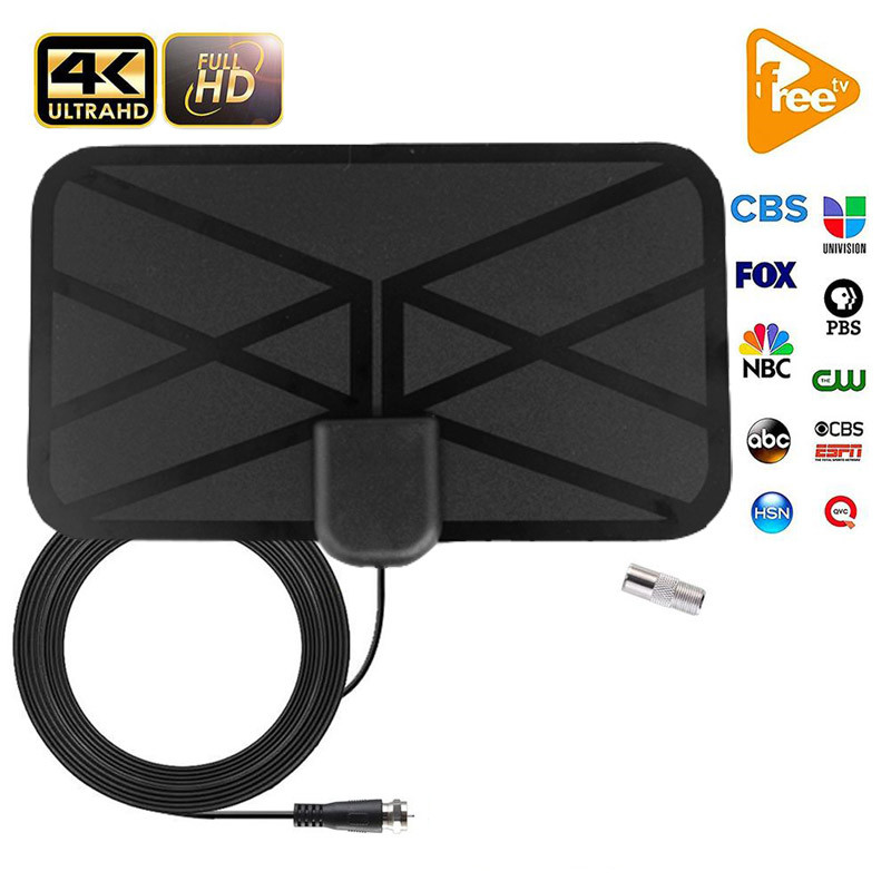 Indoor 500 Miles Digital Antenna TV Satellite Dish Signal Receiver Clear HDTV Antenna Amplifier Booster DVB-T2 Cable Tv Aerial