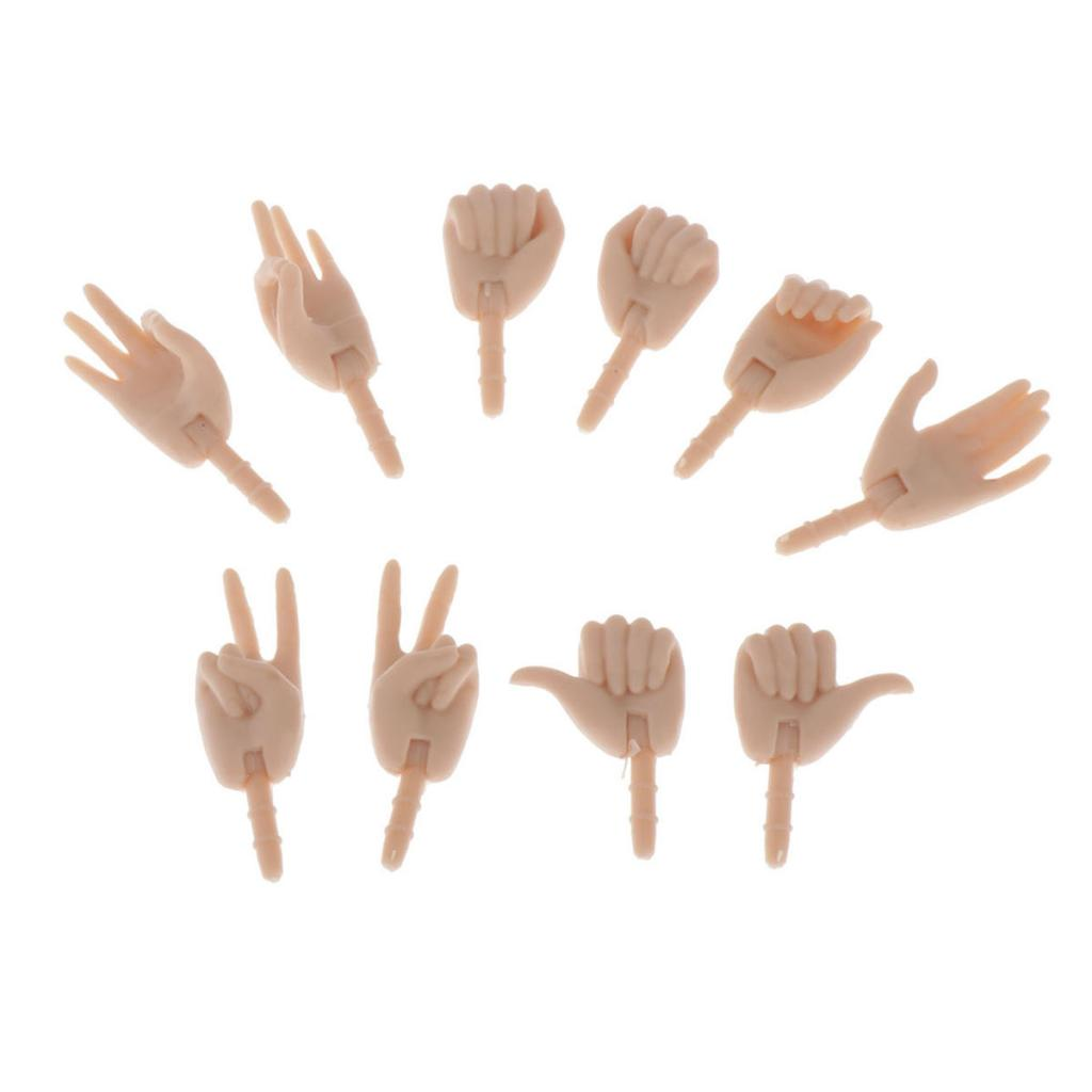 5 Pairs 1//6 Womens Hands Hand Models for BJD Girl Action Figure Doll Body