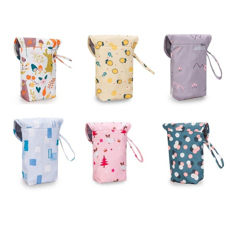 Multifunctional Baby Diaper Organizer Reusable Fashion Prints Mummy Storage Bag