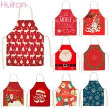 Huiran Merry Christmas Apron Santa Claus Decorations For Home 2019 Navidad 2020 Happy New Year Kitchen Noel
