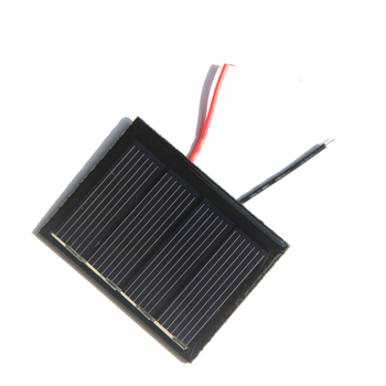 BUHESHUI Polycrystalline 2V 0.25W Solar Cell Module With Wire 50*38MM Solar Panel Charger For 1.2V Battery Light100pcs image