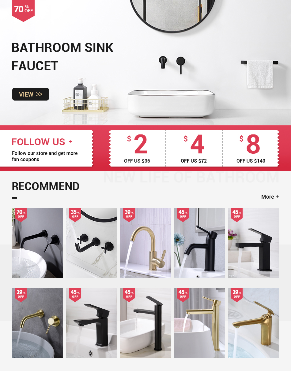 brass matte black bathroom sink faucet tap hot cold wash basin water swivel spout wall mounted bath mixer brushed rose gold basin faucets aliexpress