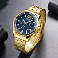 Кварцевые мужские часы с хронографом  лучший бренд  роскошные армейские военные наручные часы  мужские часы  мужские деловые наручные часы