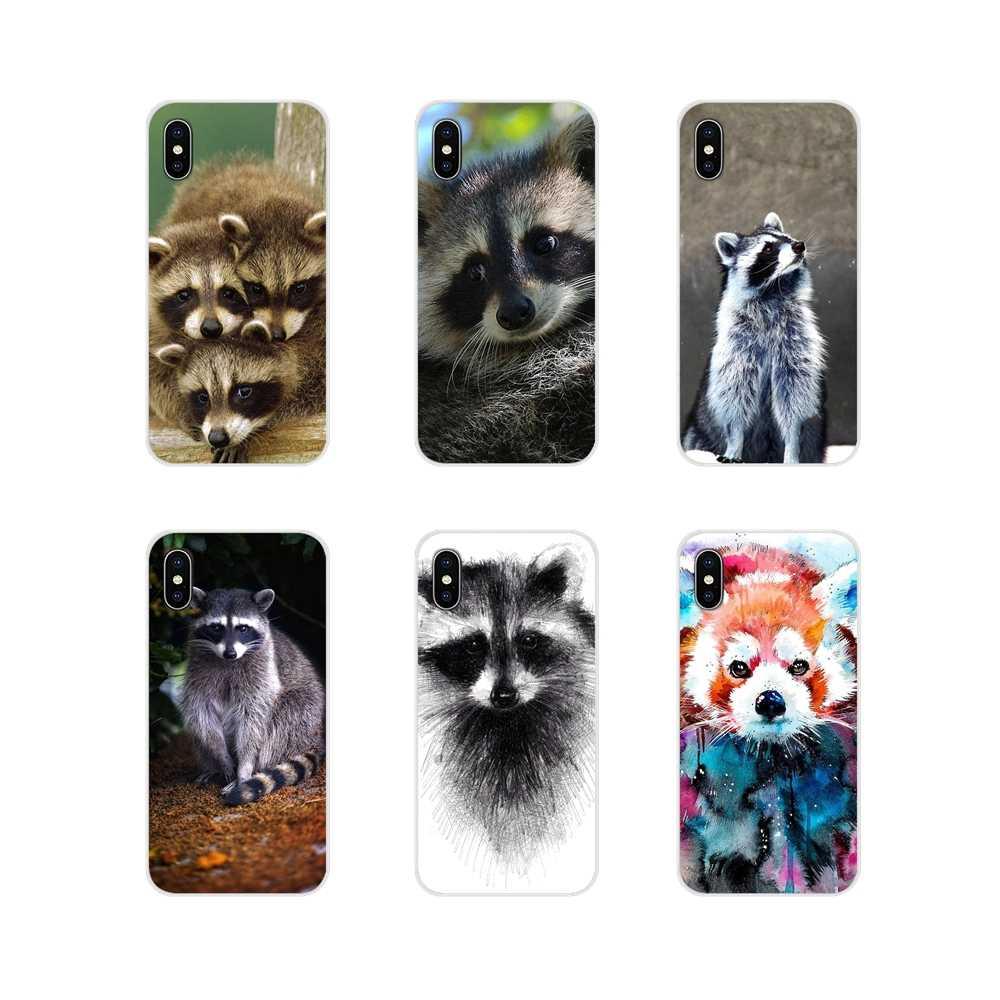 Accessories Phone Shell Covers For Samsung Galaxy A3 A5 A7 A9 A8 Star A6 Plus 2018 2015 2016 2017 fashion Raccoon Art Print