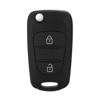 Mayitr 3 Button Car Key Cover Case Remote Key Fob Case Shell with Battery Accessories For Kia Picanto image