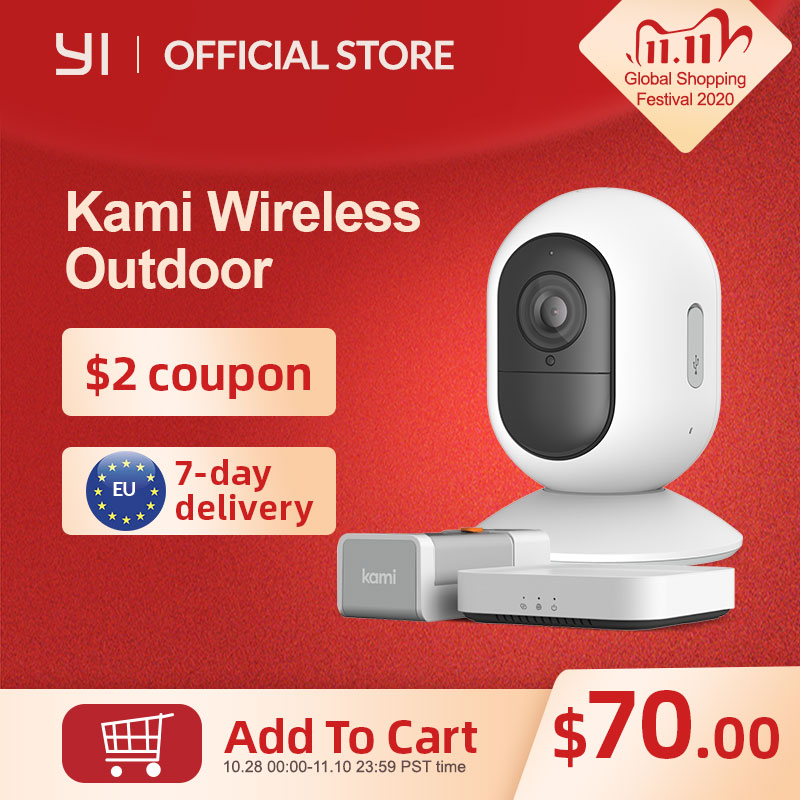 Kami Security Camera White Indoor/Outdoor Wireless 1080p Home Security System Home Kit Compatibility, with Rechargeable Battery|Surveillance Cameras| - AliExpress