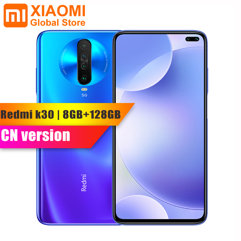 Original Xiaomi Redmi K30 8GB RAM 128GB ROM Smartphone Snapdragon 730G Octa Core 64MP Quad Camera 4500mAh 27W Fast Charging