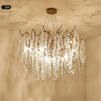 Modern Luxury Crystal Chandelier Lighting Nordic Glass Copper Bedroom Living Room Ceiling Chandeliers Round Kitchen Hanging Lamp hot sale diamond ring led crystal chandelier light modern lamp circle lights fashion style luxury glass bedroom chandeliers