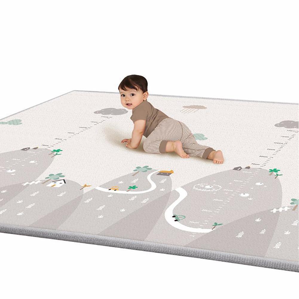 Bebê Criança Crawl Mat Reversível À Prova D Água Não-Slip Playmat Tapete do Assoalho Tapete Esteira Do Jogo Do Bebê 200cm x 180cm x 1cm